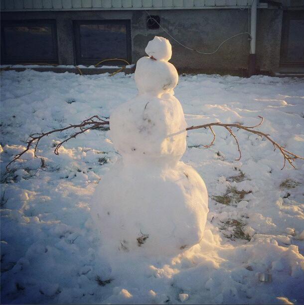 Hombre nieve