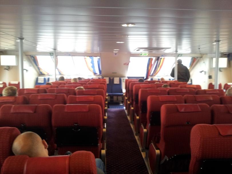 Dentro del barco