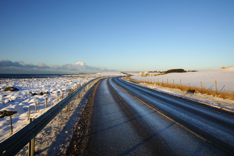 Fylkesveg 44 ved Nordsjøen